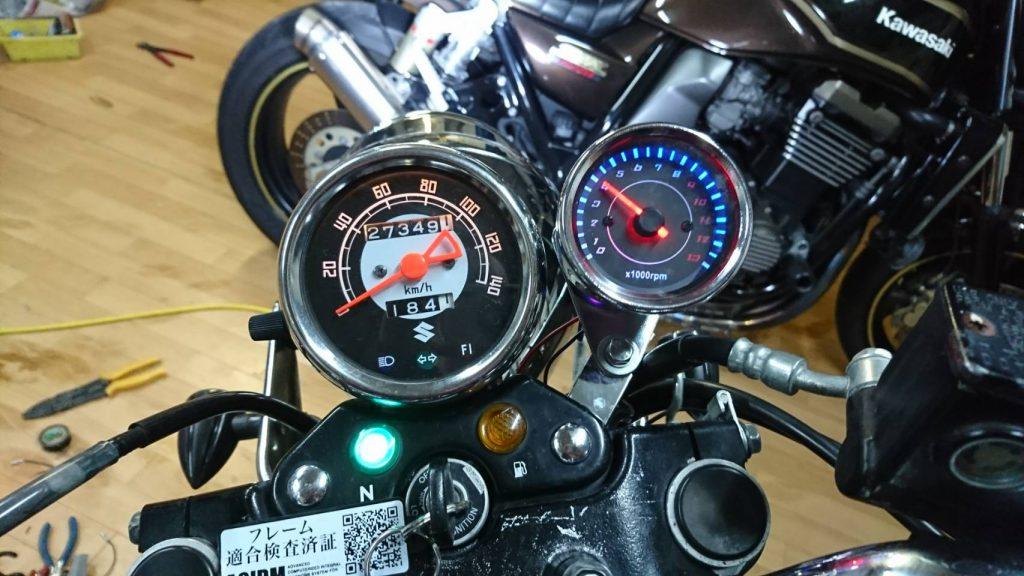 ST250Eタイプ やっとタコメーターの取り付け!